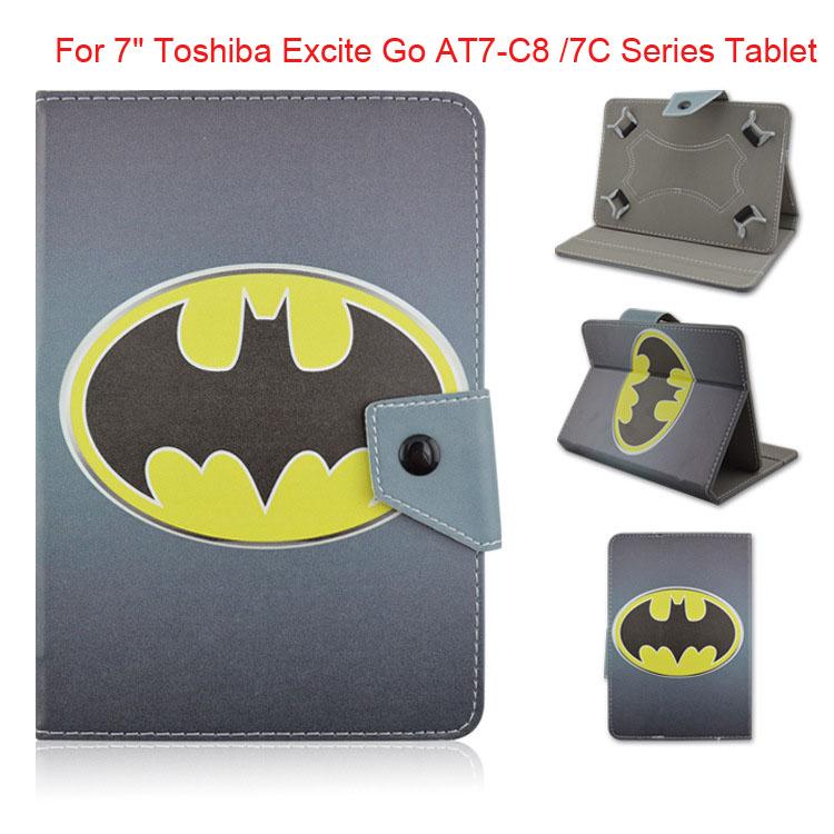 "Kids Avengers Super Heros Superman Iron Man Hulk Batman spiderman Leather Case Cover For 7"" Toshiba Excite Go AT7-C8 /7C Series(China (Mainland))"