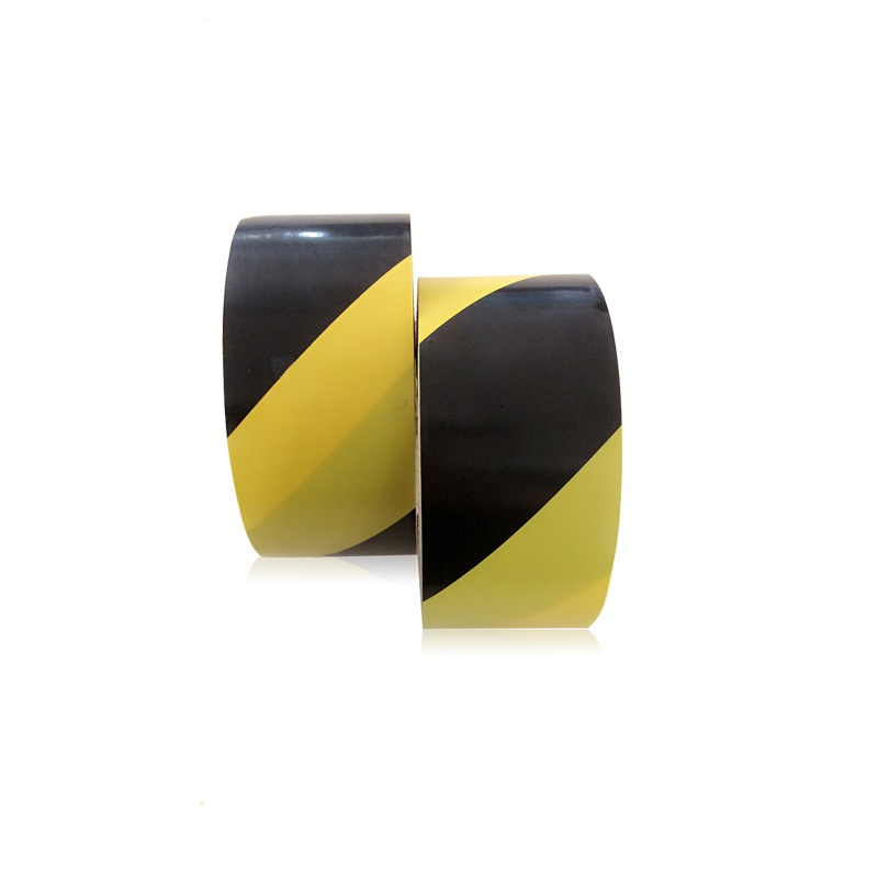 Yuntab New Arrival PVC high quality yellow-black warning tape safety isolation tape ground warning tape