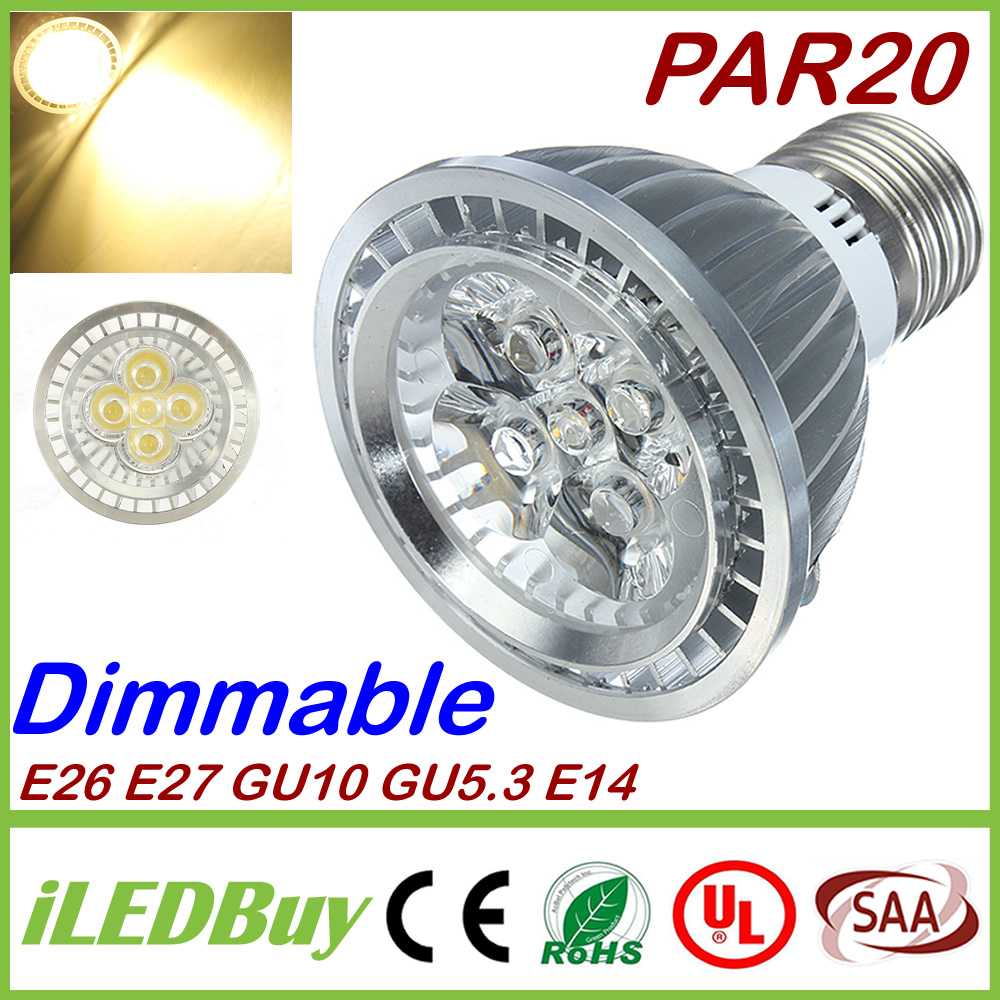 Dimmable E27 E26 PAR20 Led Bulbs Light 15W 5X3W GU10 Led CREE Lamp Warm/Natrual/Cold White 720lm AC 110-240V + Warranty 3 Years(China (Mainland))