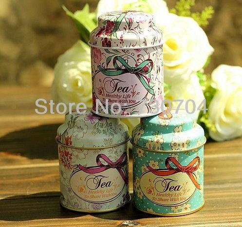 15pcs/lot Vintage style tea tins Dia 5.5cm H7cm Cylinder Metal tin Mini tea box Tea tin cans(China (Mainland))