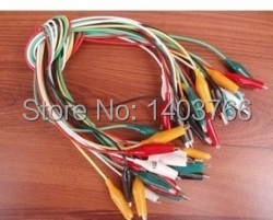 Alligator Clip Jumpers 50cm-5 colors (10pc)(China (Mainland))