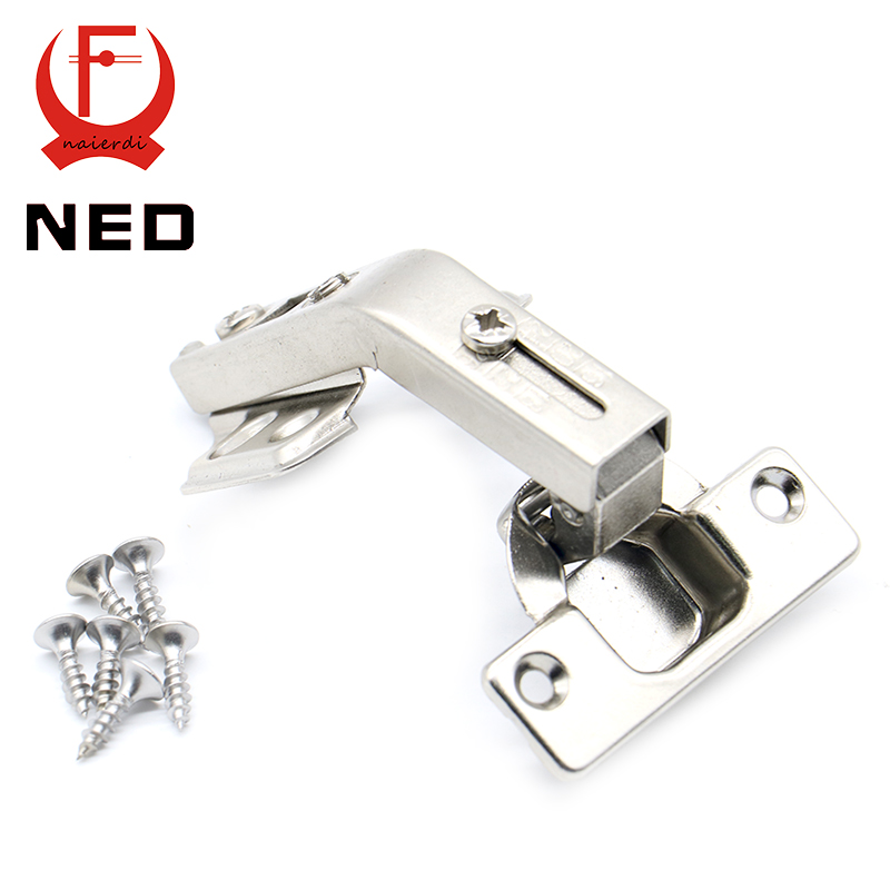 10PCS NED 135 Degree Corner Fold Cabinet Door Hinges 135 Angle Hinge Hardware For Home Kitchen Bathroom Cupboard With Screws(China (Mainland))
