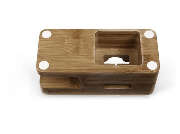 wooden iwatch holder