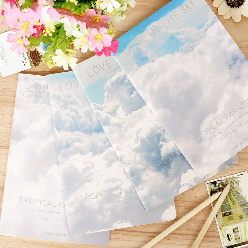 1Pcs New Blue Sky Series A5 Notebook Diary Notepad Memo Pads Book H0812<br><br>Aliexpress
