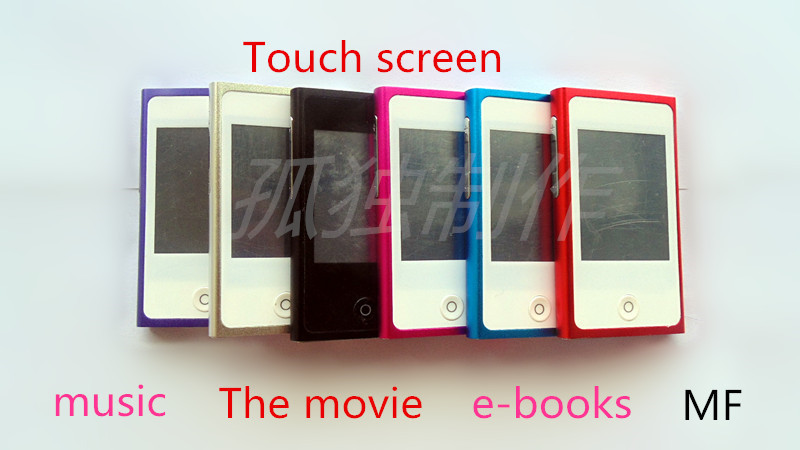 2.0 TFT Touch Screen 8GB Mp3 Mp4 player digital fm radio video player+Free shipping(China (Mainland))
