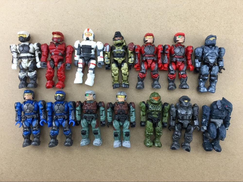 Rare Lot  14pcs different HALO MEGA BLOKS Exclusive UNSC Gold Spartan Grenadier  MINIFIG SERIES<br><br>Aliexpress