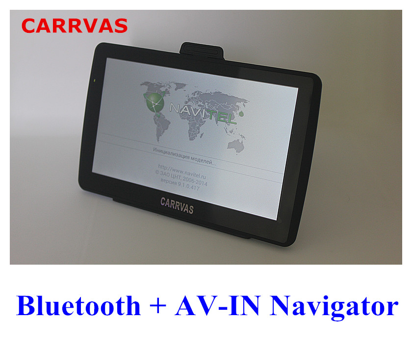 new CARRVAS 7 inch HD Car TRUCK GPS Navigator 800MHZ Bluetooth AV-IN 2016 New Maps Russia/Belarus/Kazakhstan Europe/USA+Canada(China (Mainland))