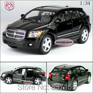 New Dodge Caliber 1:34 Alloy Diecast Model Car Toy Collection Black B364(China (Mainland))