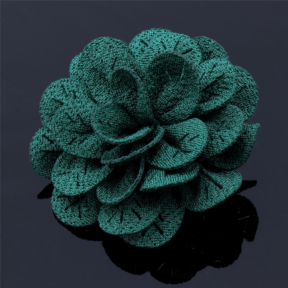 New Arrival Free Box Packed 1 PC Paperclip Type Fabric Unisex Silk Flower Brooches & Pins(China (Mainland))