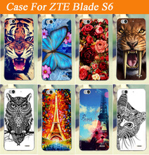 Colored Painting Case for ZTE Blade S6 Case Cover FOR ZTE Blade S6 phone Case Cover High Quality Freeshipping