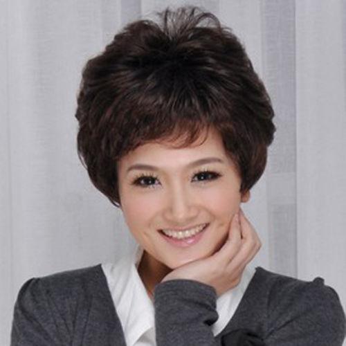 Fine wig.00562 Female Women Stylish Short wig hair Mother's Lifelike wig(China (Mainland))