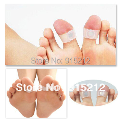 20pair lot Body Building Weight Lose Slimming Massager Silicon Magnetic Foot Massage Toe Ring Retail Packing
