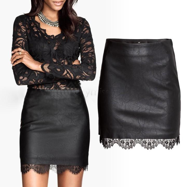 Кожаные юбки и кружево