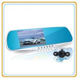 2016 New 5.0 inch Car DVR GPS Wifi Car Mirror Camera Android Full HD 1080P Dual Lens Car Camera Rearview Mirror Video Recorder