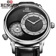 Military Binger GMT font b Watch b font for font b Men b font Japan Quartz