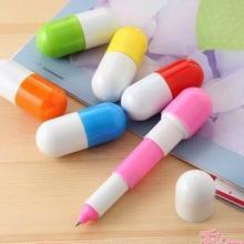 Скидки милый капсула таблетка мяч шариковая ручка карандаши телескопический витамин капсула шариковая ручка для школа