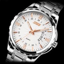 Relojes hombres marca de lujo del cuarzo de acero Digital completo de pulsera de buceo 30 m Casual reloj relogio masculino