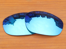 Ice Blue Mirror Polarized Replacement Lenses For Big Square Wire Sunglasses Frame 100% UVA & UVB Protection