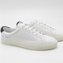 New Fashion female Common Projects Low tops Distressed Super white casual Genuine Leather Man Women's sheepskin Shoes