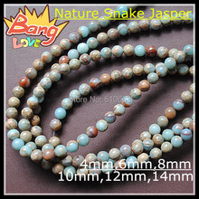 Nature Snake Skin Jasper Round Ball Beads Loose Semi Precious Stone,Nice Colors,Size: 8mm, Choice order quantities options(China (Mainland))