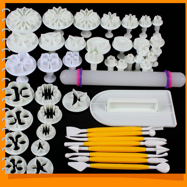 14 sets 46pcs delicious fondant cake decorating modelling