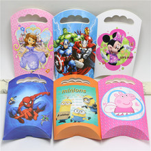 12pc Paper French Fries Boxes Avengers/Minnie/Princess/Minions Cartoon Kids Birthday Party/Baby Shower Decoration Favor Supplies(China (Mainland))