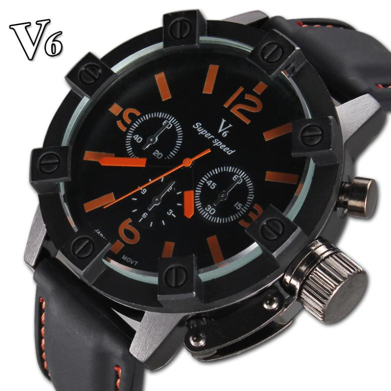 2016 marca V6 Luxury Brand New Sport watches Men Quartz Casual Military Watch Fashion watch Hour