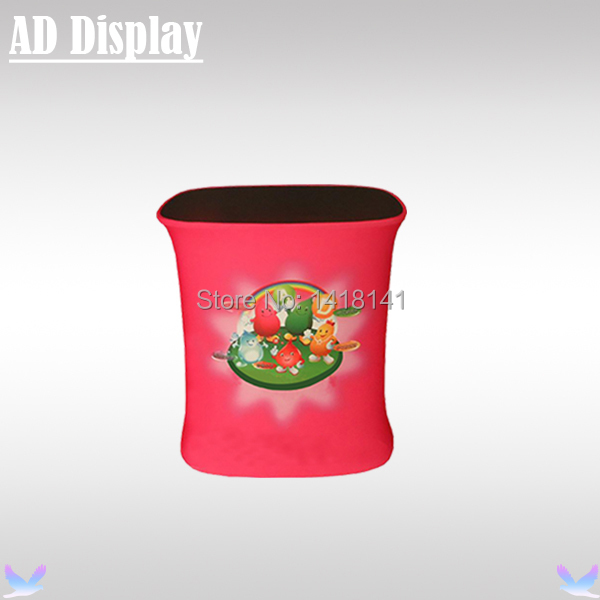 Tension Fabric Square Counter Display,Portable Exhibition Promotion Table,Trade Show Aluminum Stand With Full Color Printing(China (Mainland))