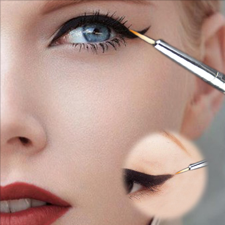 New Cosmetic Waterproof Eye Liner pencil make up black liquid Eyeliner Shadow Gel Makeup Eyeliner Cosmetic Brush Black(China (Mainland))