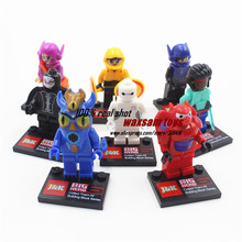 New movie Big Hero 6  baby toy Building Bloks Sets Model Toys Minifigures Brick Toys legoed Wholesale Compatible with Lego(China (Mainland))