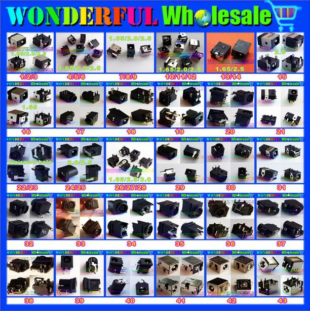 80models,160pcs,Tablet PC MID Laptop DC Power Jack Connector for Samsung/Asus/Acer/HP/Toshiba/Dell/Sony/Lenovo/...(China (Mainland))