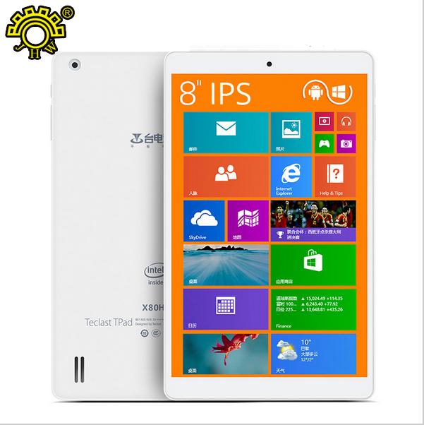 """Original 8"""" Teclast X80HD Anriod 5.0 & Windows 10 Dual Boot Tablet PC Z3735F 1280x800pixels IPS Screen 2GB/32GB HDMI wifi(China (Mainland))"""