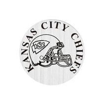 22mm Floating Plate Stainless Steel Kansas City Chiefs Silver Window Plate For 30mm Floating Living Locket 10pcs(China (Mainland))