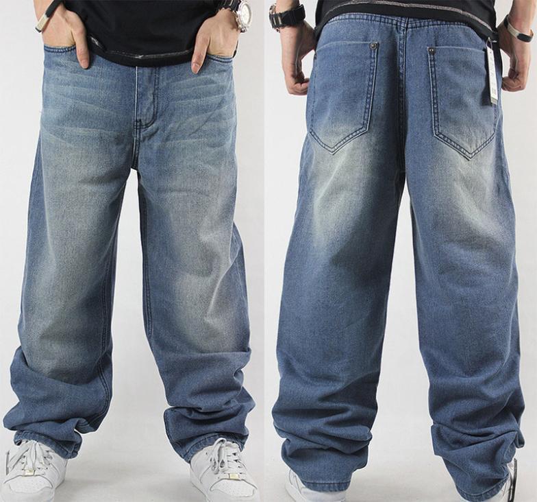 men hip hop dance pants baggy jeans dark blue hip hop