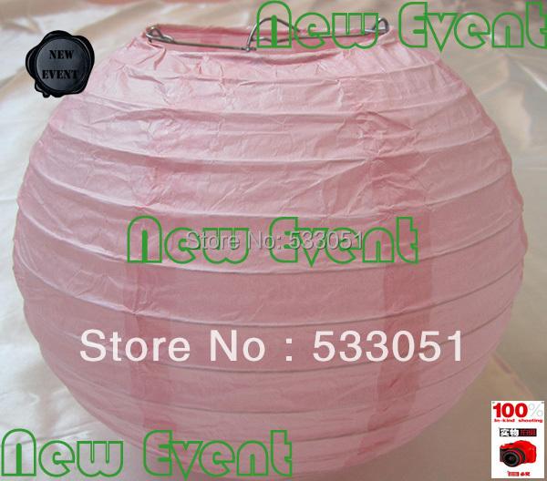 Hot Sale 10cm Chinese Round Peach Pink Paper Lantern Wedding Lantern Festival Decoration(China (Mainland))