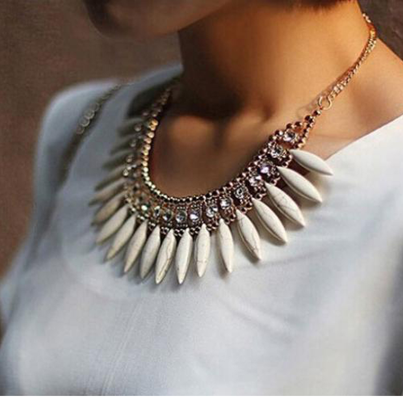 Fashion Women Crystal Pendant Chain Choker Chunky Statement Bib Necklace BOHO(China (Mainland))