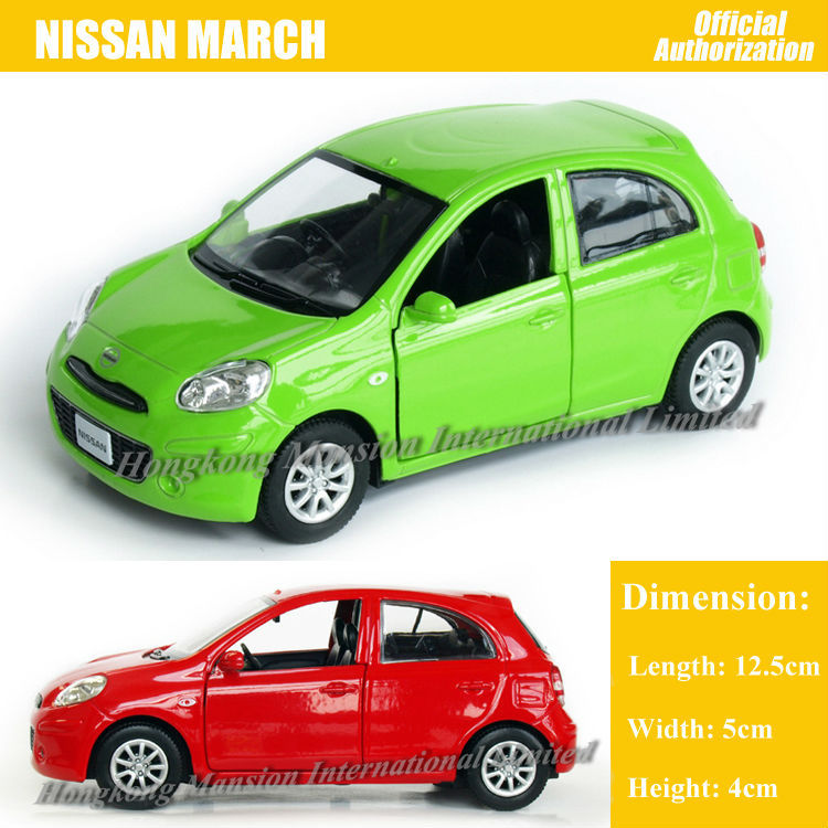 1:36 Scale Diecast Alloy Metal Car Model For Nissan MARCH Collection Model Pull Back Toys Car With Sound & Lights(China (Mainland))