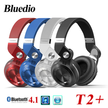 Bluedio T2 + fashionable folded over the ear headphones Bt 4.1 support FM radio and music function SD card for smart phone