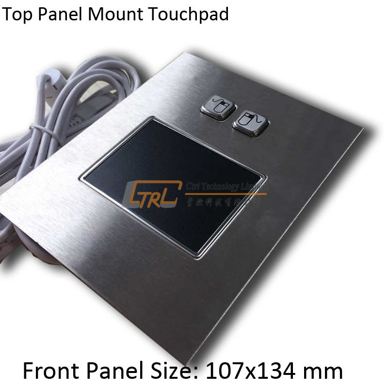 Top Panel mount stainless touchpad, USB or PS2 trackpad, industrial pointing device