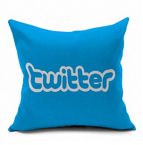 Twitter The Voice Pop Technology Symbol Logo Internet Emoji Pillow Massager Decorative Pillows Case Cover Euro Home Decor Gift(China (Mainland))
