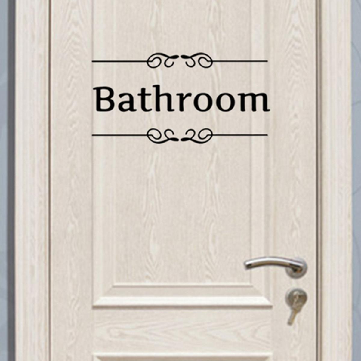 Bath sticker vinyl art free shipping worldwide for Bathroom decor quotes