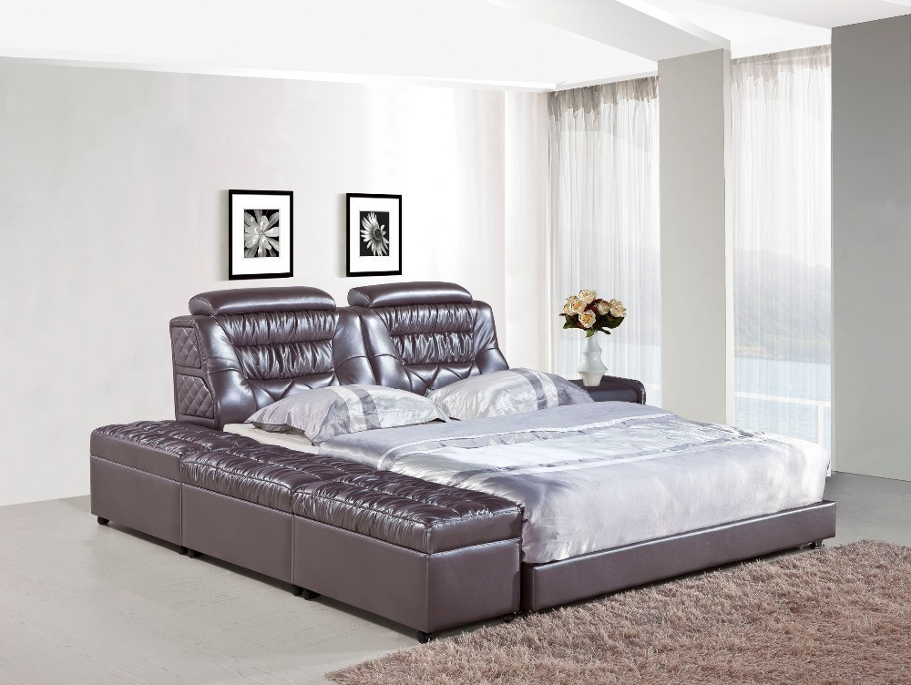 Bedroom Furniture Modern Leather Bed H821 Lizz Bed Hot Sale Bedroom