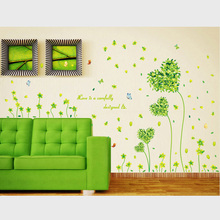 Buy Green Love Flowers Wall Sticker Living Rooms Kid Room Bedroom Wall Decals Home Decor Mural Art Waist Line Vinyl Wallpaper for $4.49 in AliExpress store
