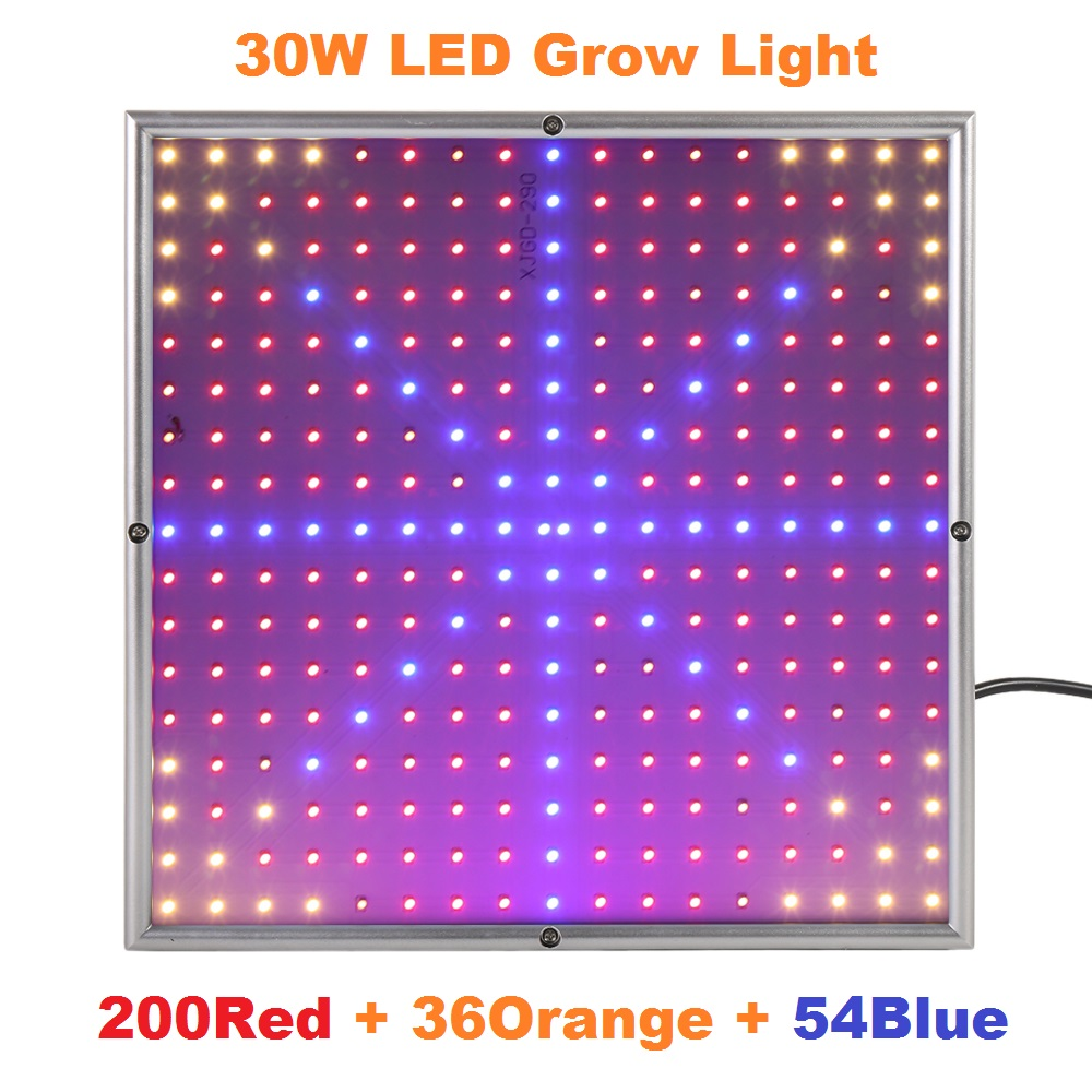 30W SMD3528 200Red +36Orange+54Blue 85-265V Led Grow Light Lamp For Plants Aquarium Garden Horticulture Grow/Bloom Free Shipping<br><br>Aliexpress