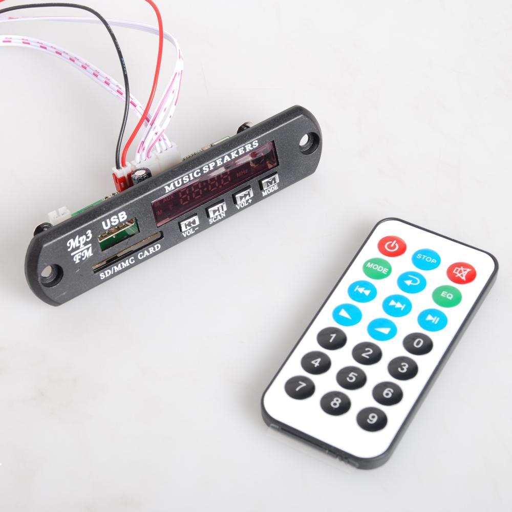 Гаджет  12V Wireless Bluetooth WMA MP3 Decoder Board USB TF Radio Audio Module for Car  C01092 None Электронные компоненты и материалы