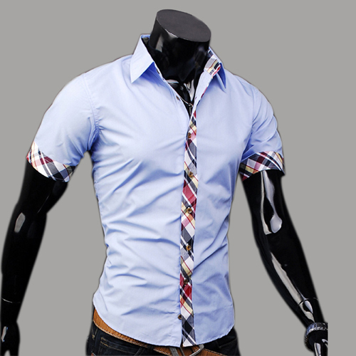 Free shipping 2016 Top Quality Men Shitr Shivering Royal Shirt Flowers Cherry Men 100%Cotton The Lowest Pice(China (Mainland))