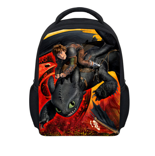 fire Children School Bags Train Dragon Backpacks Little Boys Hiccup book bag Kids - 100% Quality Toy store