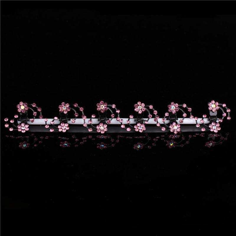 girls rose flower hair claw clip crystal rhinestone metal hair pin kids hair accessories children hair jewelry(China (Mainland))