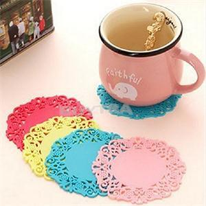 2014 New Table Decoration Accessories Silicon Cup Mats Ecofriendly Mini Pads for Cups(China (Mainland))