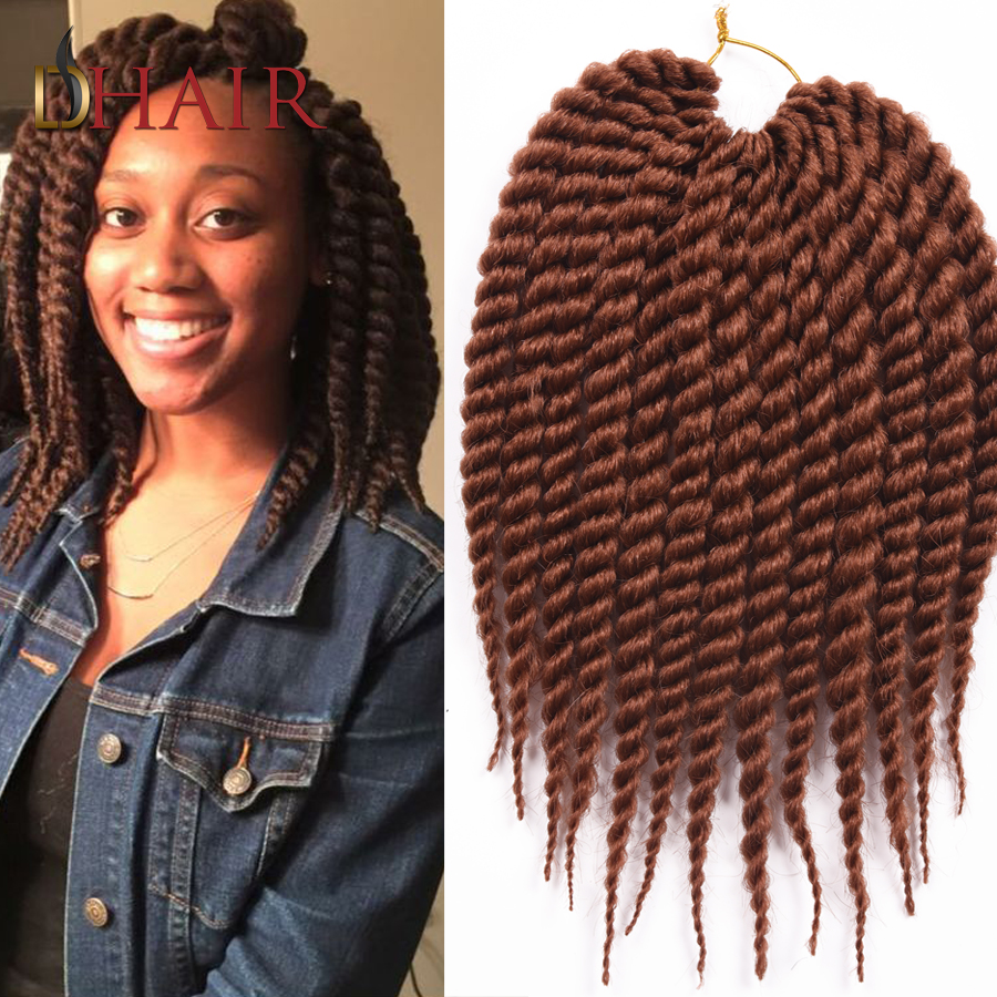 Leader New Products Havana Mambo Twist Braids 12 Strands 2X Synthetic Crochet Braids Hair Extension Black/Brown Braid Hair(China (Mainland))